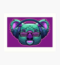 Lámina artística Bass Drop Koala Bear