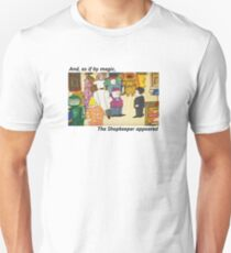 Mr Benn. As if by magic the shopkeeper appeared T-Shirt