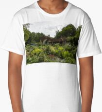 English Cottage Garden - a Blissful Space with a Riot of Flowers Long T-Shirt