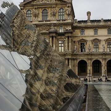 Paris - Louvre Reflecting in the Pyramid  by GeorgiaM