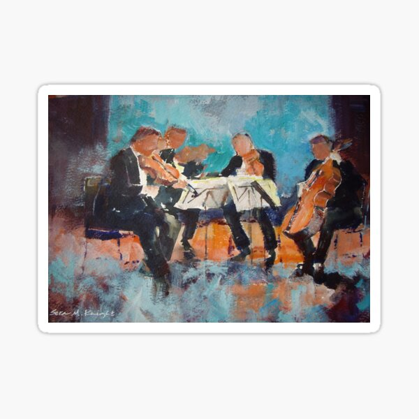 String Quartet - Painting Of Classical Musicians Sticker