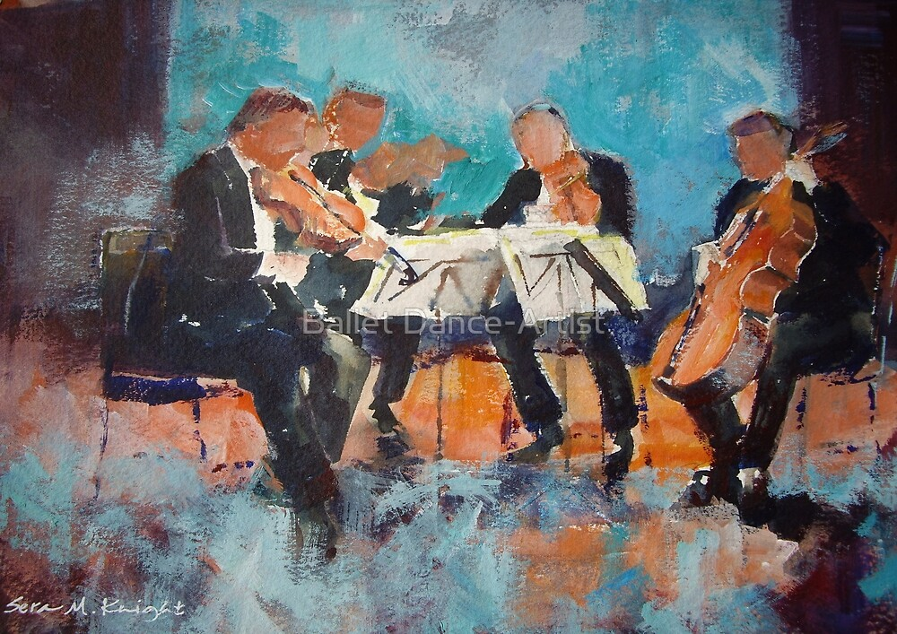String Quartet - Painting Of Classical Musicians by Ballet Dance-Artist
