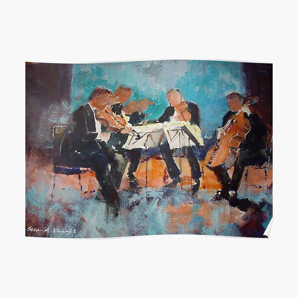 String Quartet - Painting Of Classical Musicians Poster