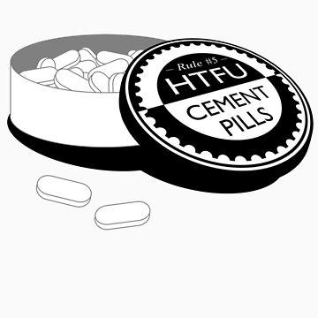 """Harden Up"" Cement Pills by collingridge"