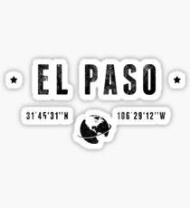 El Paso geographic coordinates Sticker
