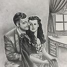 Gone With the Wind Boudoir Drawing II by ArtByJessicaJ