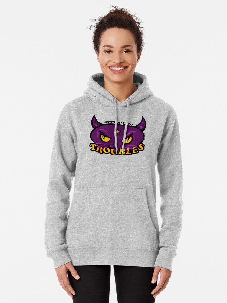Alternate view of Star Belle - Gettin' Into TROUBLES Pullover Hoodie