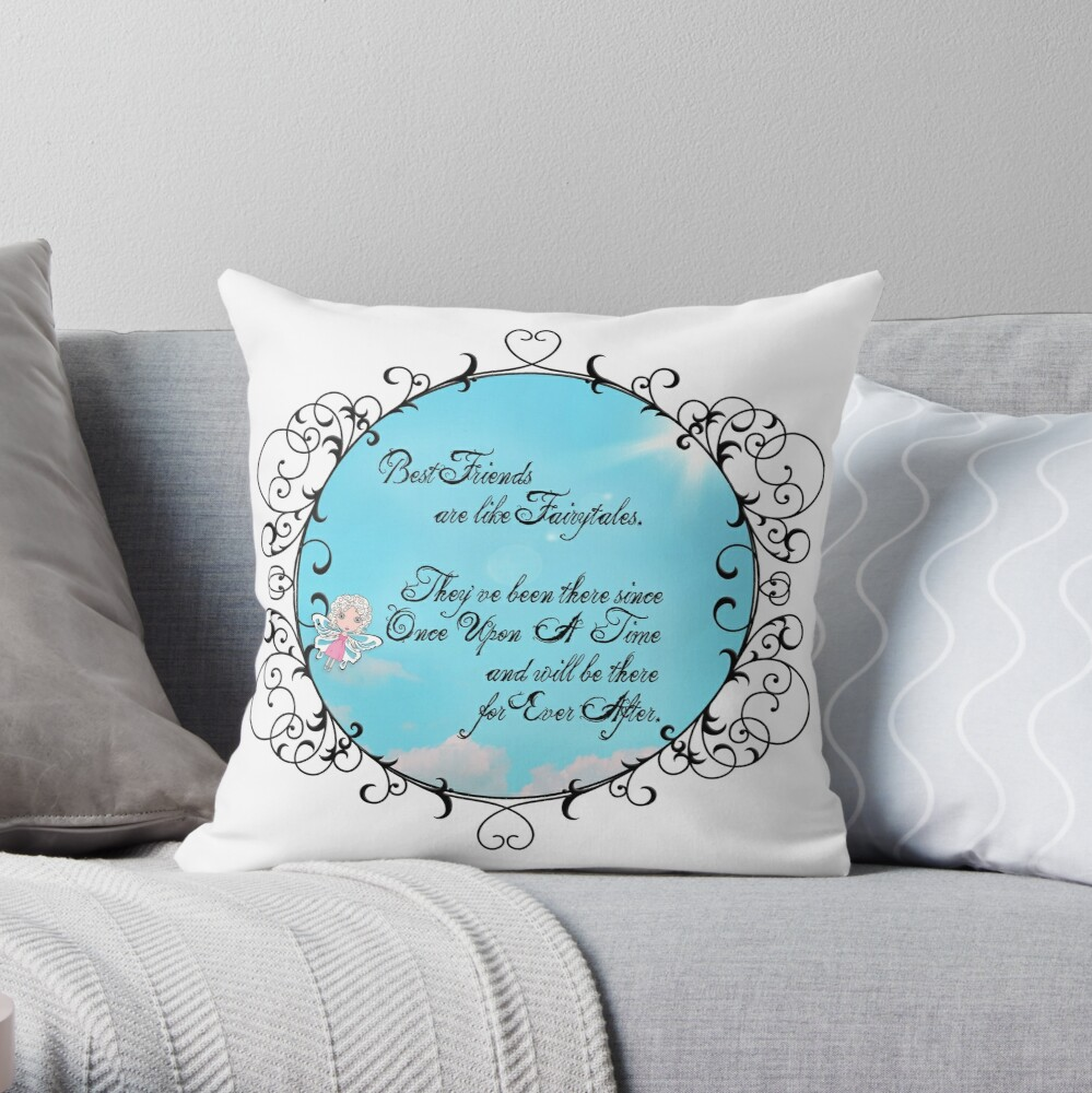 My Fairytale Friend Throw Pillow