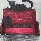 Anti-Social Black Cat Illustration by ArtByJessicaJ