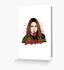 Tarjeta de felicitación Ally Brooke