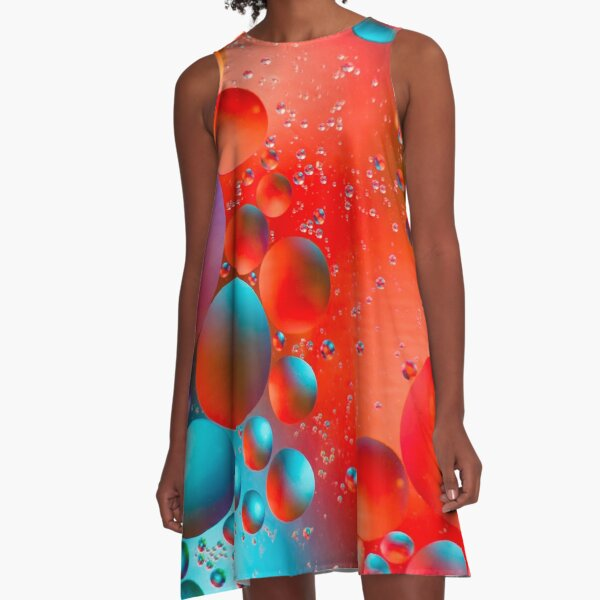 Oil and Water A-Line Dress