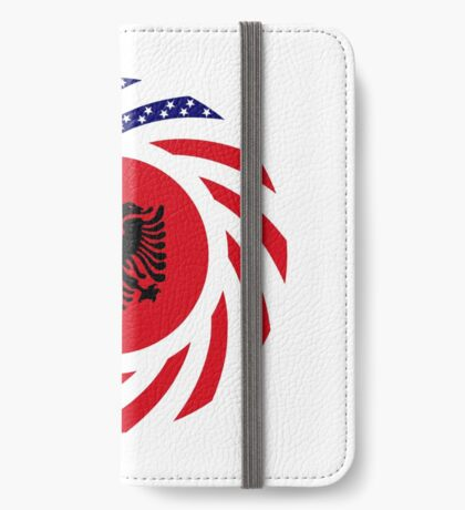 Albanian American Multinational Patriot Flag Series iPhone Wallet