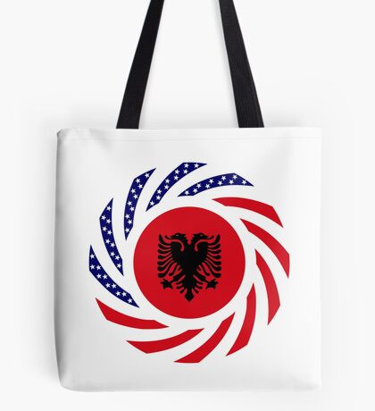 Albanian American Multinational Patriot Flag Series Tote Bag