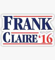 Frank and Claire '16 Sticker