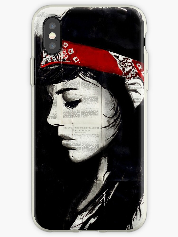 quality design fb988 219a1 'red bandana' iPhone Case by Loui Jover