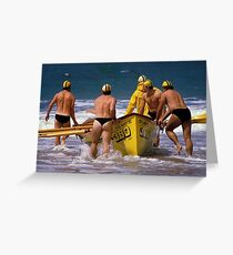 0390 Ready for action - Lifesavers Greeting Card