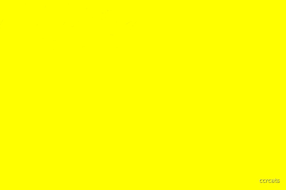 YELLOW. by ccrcats