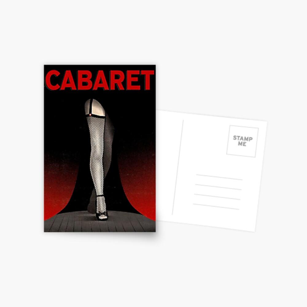 CABARET: Vintage Musical Play Werbung Drucken Postkarte