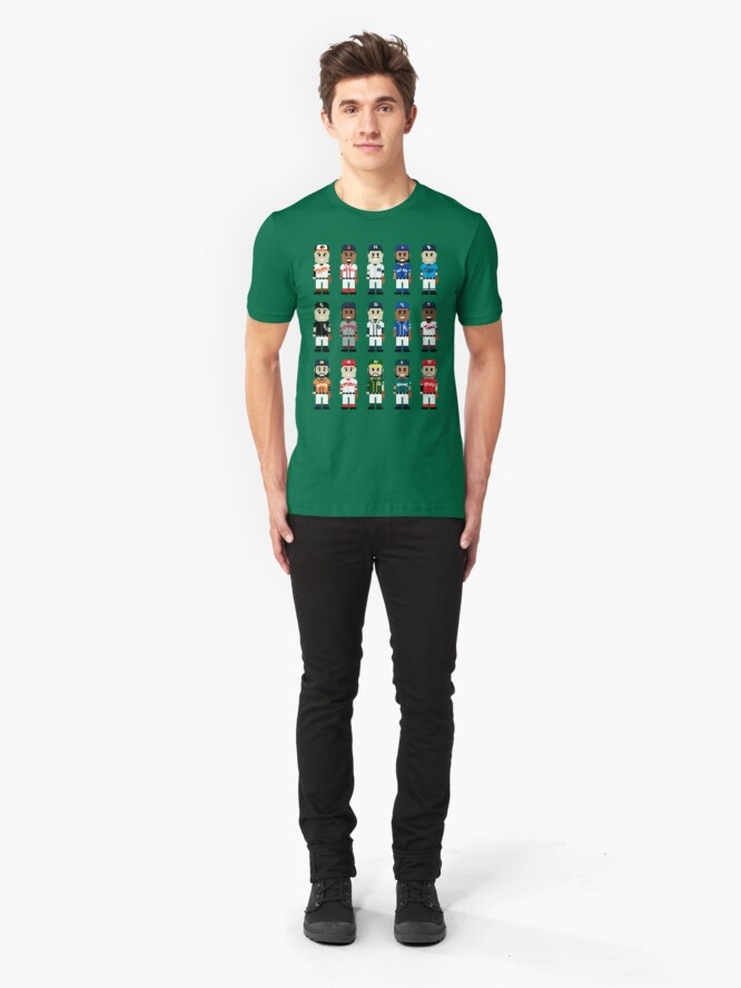 Alternate view of 8-Bit American Baseball Slim Fit T-Shirt