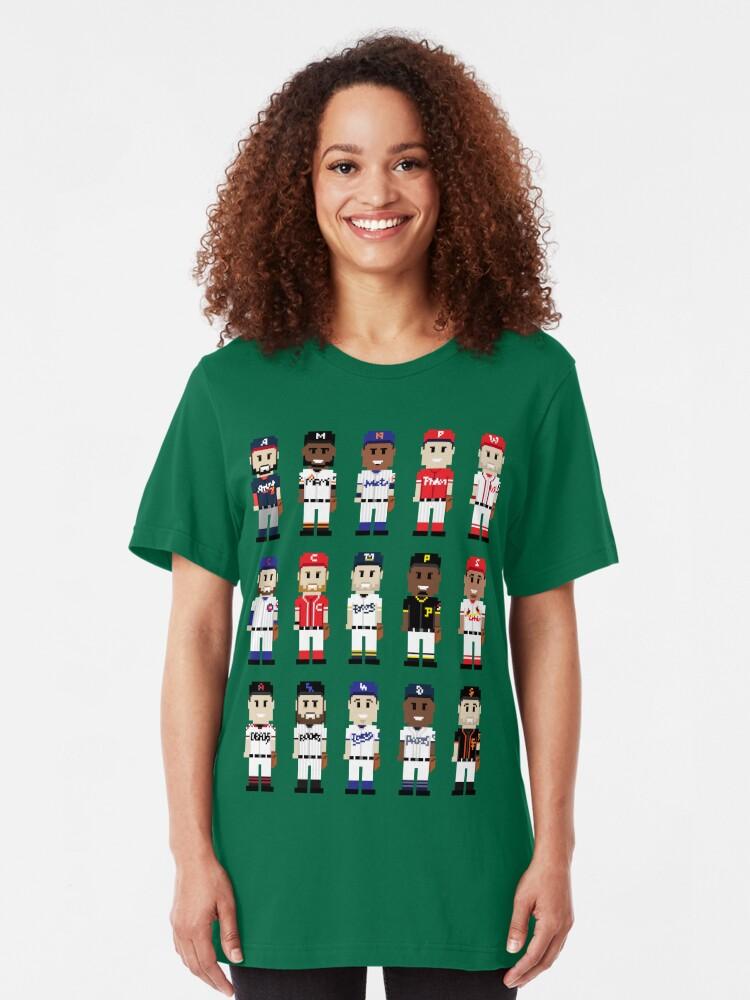 Alternate view of 8-Bit National Baseball Slim Fit T-Shirt