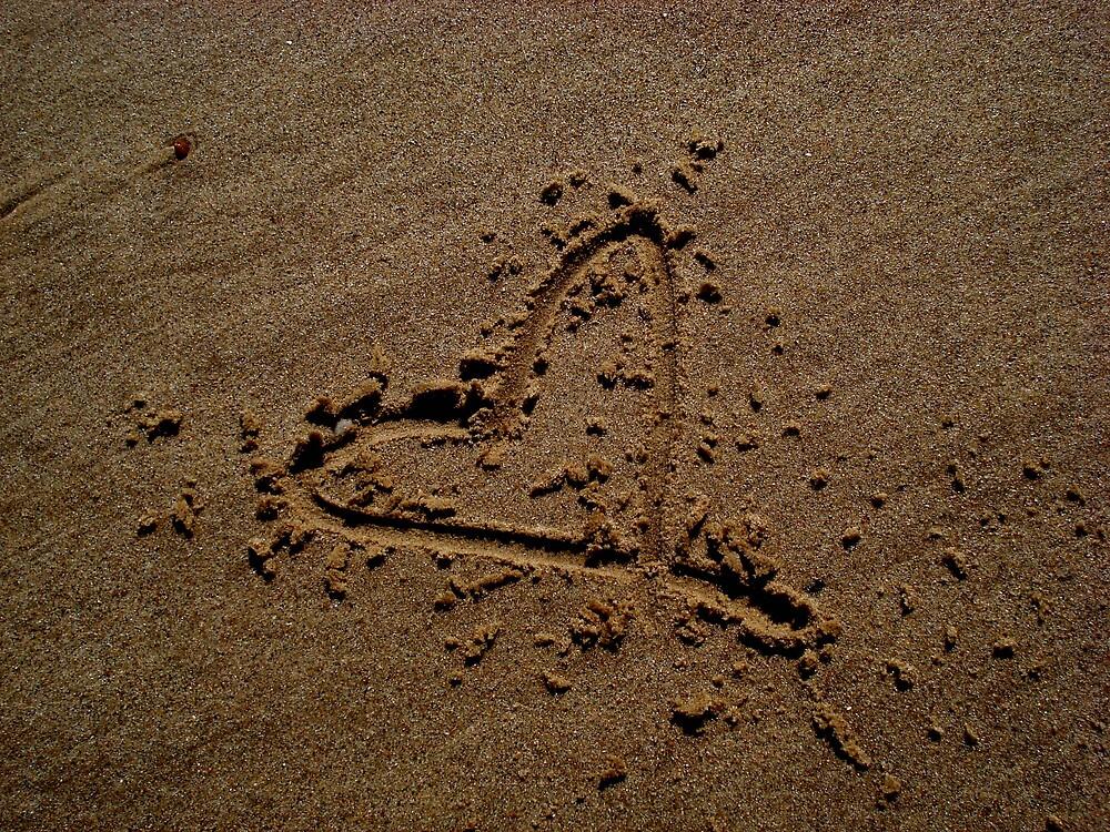 Love in sand by rebecca3