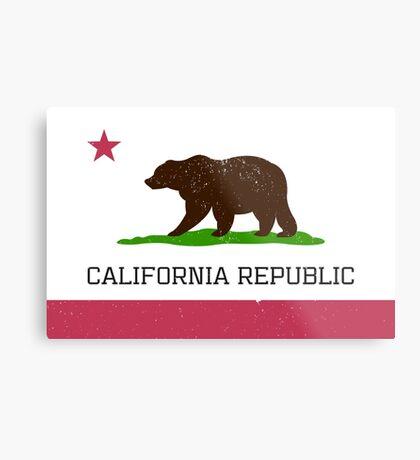 Vintage California Republic Flag Metal Print