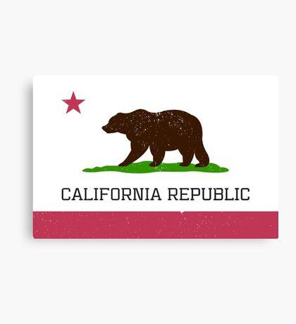 Vintage California Republic Flag Canvas Print
