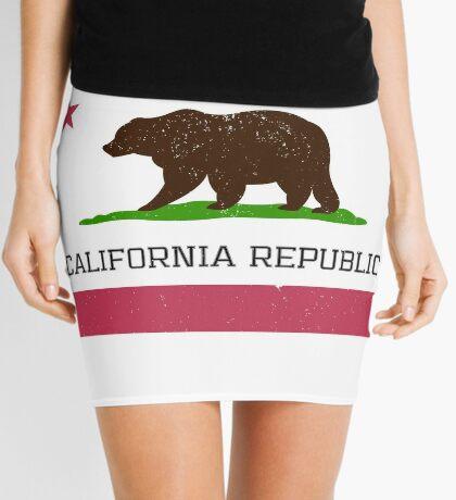 Vintage California Republic Flag Mini Skirt