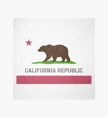 Vintage California Republic Flag Scarf