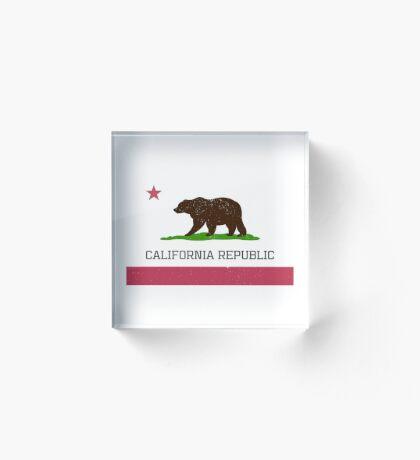 Vintage California Republic Flag Acrylic Block