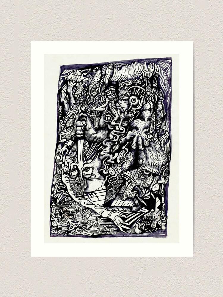Alternate view of Alpha Warrior by Brian Benson Art Print
