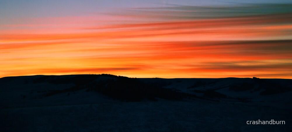 Montana Sunset (card series) by crashandburn