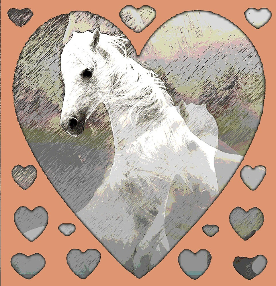 Horses and Hearts cutout by IowaArtist