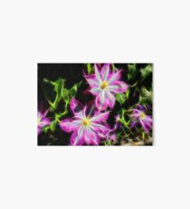 Pink and Green Flowers in the Spring Art Board