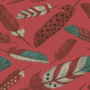 Painted Feathers by samposnick