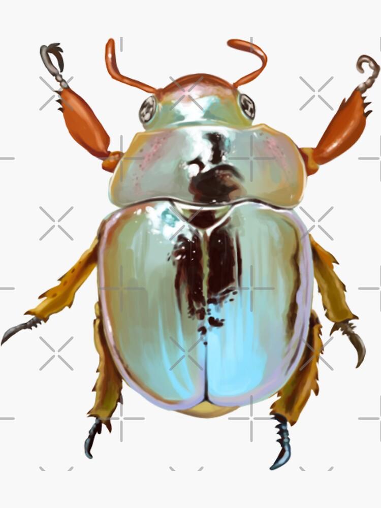 Rainbow Jewel Scarab Beetle by seasofstars