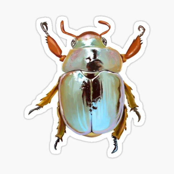 Rainbow Jewel Scarab Beetle Sticker