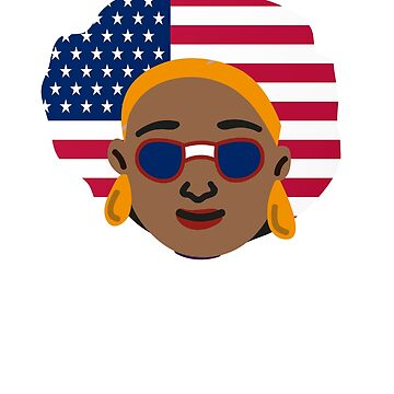 USA Flag Melanin African Urban 4th July  by gmgame