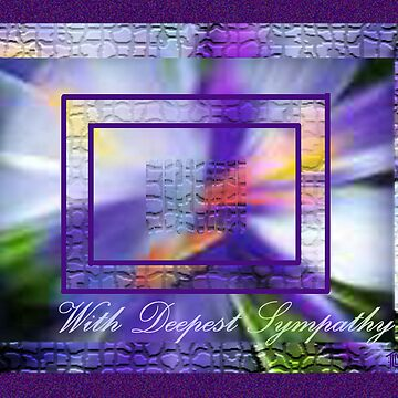 Framed Iris... Sympathy by TLCGraphics