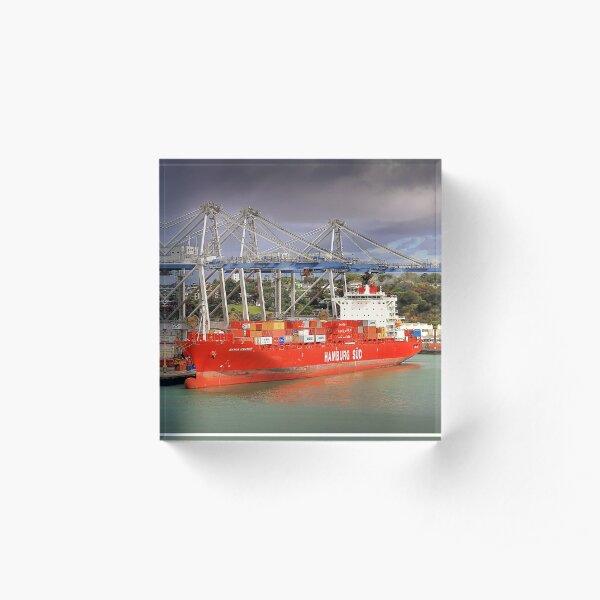 0406 Hamburg Süd - Auckland NZ Acrylic Block