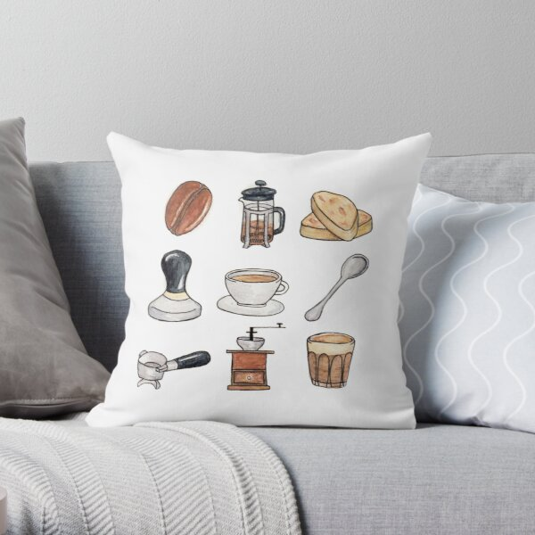 Coffee Obsession Throw Pillow