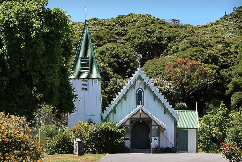 0412 St Patricks Church - Akaroa NZ by Hans Kawitzki