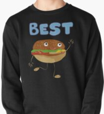 Matching Burger and French Fries Best Friends Design Pullover