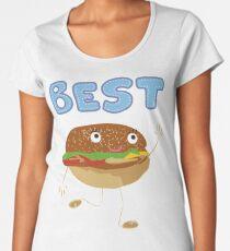 Matching Burger and French Fries Best Friends Design Women's Premium T-Shirt