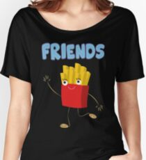 Matching Burger and French Fries Best Friends Design Women's Relaxed Fit T-Shirt