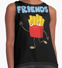Matching Burger and French Fries Best Friends Design Contrast Tank