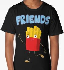 Matching Burger and French Fries Best Friends Design Long T-Shirt