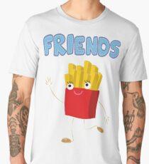 Matching Burger and French Fries Best Friends Design Men's Premium T-Shirt