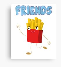 Matching Burger and French Fries Best Friends Design Canvas Print