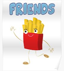 Matching Burger and French Fries Best Friends Design Poster